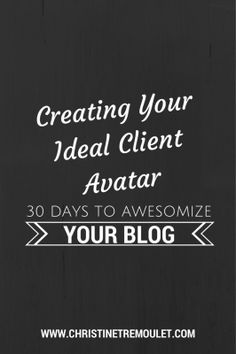 Creating your ideal client avatar will help give you clarity in your business for marketing, your blog, and creating your editorial calendar.