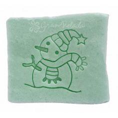 Sello para jabones, Muñeco de Nieve, con este sello tus jabones caseros de Aceite, tendrán un toque especial. Detalles ideales en Gran Velada.