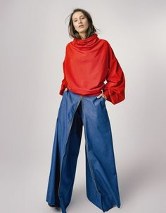 Bluza bawełniana damska czerwona