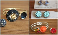 Love, love, love these bangle like button bracelets with coordinating rings!!