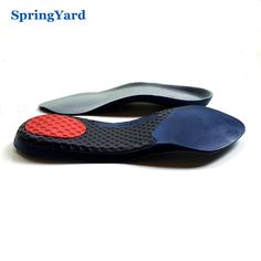 SpringYard TPR+PU Form 3/4 Length Arch Support Shock Absorption Cushion Soft Comfortable Orthopedic Insoles for Shoes Woman Men