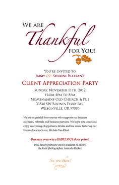 client appreciation party invitations - Google Search More