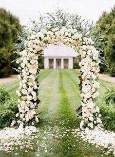 Case Conosco Eventos Cerimonial: Arco de Flores para Casamento