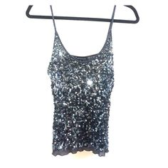Sequined Top Gently Worn, Beaded Straps, Final Price Tops