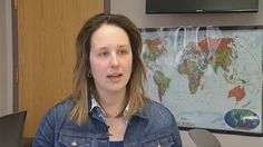 """Meriden resident does not let traumatic brain injury stop her."" At age 13, Kaitlyn Dyrek was struck by a car and suffered multiple complications including a traumatic brain injury and Wernicke's aphasia. For eight months three days a week, she came Gaylord Hospital for physical, occupational, speech and aquatic therapies as well as aphasia group therapy. She is now a student at Southern CT State University."