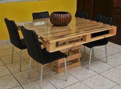 Mesa Pallet para sala de reunião