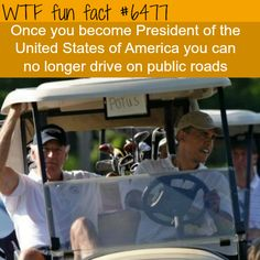 Things the president of the USA can not do - WTF fun facts
