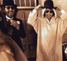 Levon Helm and Bob Dylan photo by ~ John Scheele