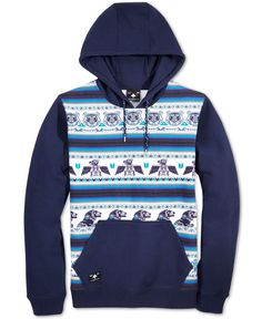 Lrg Men's Big Up Boss Graphic-Print Stripe Hoodie