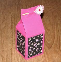 Tuto boîte cadeau « brique de jus de fruits »