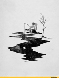 Cool illustrations by Nicebleed – Art – The World Space Drawings, Cool Drawings, Space Artwork, Simple Drawings, Space Illustration, Design Illustrations, Desenho Tattoo, Art Graphique, Art Inspo
