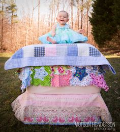 Princess and the pea by Morgan Henderson Photography | Outfit by https://www.facebook.com/PokeyKnots **image is a composite for safety**