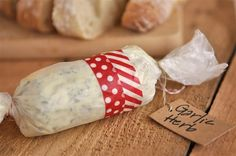 Make your own flavored butters...and give them as a gift with a loaf of bread!
