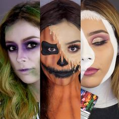 Looking for for ideas for your Halloween make-up? Browse around this website for unique Halloween makeup looks. Halloween Makeup Videos, Halloween Zombie Makeup, Unique Halloween Makeup, Cute Halloween Makeup, Halloween Makeup Looks, Halloween Halloween, Halloween Tutorial, Halloween Parties, Halloween Makeup Anleitung
