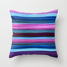 SIMPLY STRIPES 2 Throw Pillow by catspaws - $20.00