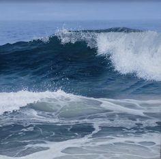 "Antonia Tyz Peeples (b.1957) ~ ""The Deep"", 2013 ~ Oil on Linen 30"" x 30"""
