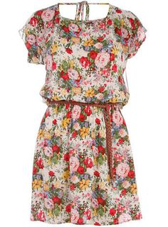 floral with belt