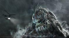 Leviathan - Creature Design and Model, Ben Erdt on ArtStation at https://www.artstation.com/artwork/81B1n
