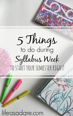 5 Things to Do During Syllabus Week