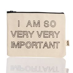 Very Very Important Pouch, $16.50, now featured on Fab.