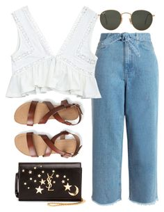 """""""Sin título #2224"""" by alx97 ❤ liked on Polyvore featuring Zimmermann, Aéropostale, Yves Saint Laurent and Ray-Ban"""