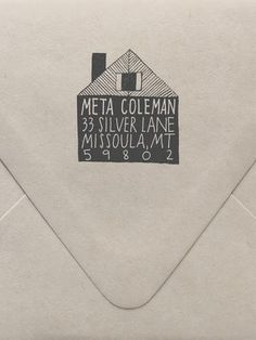 Our custom hand drawn stamps are the perfect stylish detail for your correspondence, desk and home.   They also make thoughtful, personalized gifts for brides & grooms, mothers, husbands, best friends, and just about anyone, really. You can't go wrong!   Possible Uses: -  Return address -  Monogram -  From