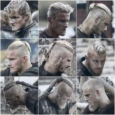 Which is your favourite Bjorn's hairstyle? Viking Men, Viking Life, Viking Warrior, History Channel, Ragnar Lothbrok Vikings, Ragnar Lothbrok Haircut, Bjorn Lothbrok, Lagertha, Viking Haircut