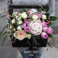 """""""БУКЕТ ДНЯ"""" 7 июня 2017г. со скидкой 50%!!!  Великолепные цветы в оригинальномоформлениисоздают очень тонкую по красотеи эмоциональному наполнению композицию🌸☀️, которая обязательно станет изюминкой любого праздника💐🌟 C любовью, Fashion Flowers💞  Напоминаем """"БУКЕТ ДНЯ"""" в одном экземпляре, успевай его заполучить!!!  Стоимость без скидки: 5300 руб Стоимость со скидкой: 2650 руб  Состав:Пион Мазерс Чойз 2шт (350руб/шт) Роза пионовидная 1шт (360 руб/шт) Роза куст Премиум пинк лейс 2шт…"""