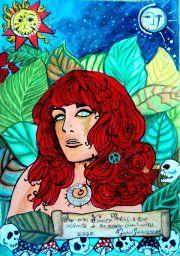 """""""What the Water Gave Me""""  Deite-me. Deixe que o único som seja o da água transbordando.(bolsos cheios de pedras)...  Feito pra cantora Florence Welch da Florence and the Machine."""