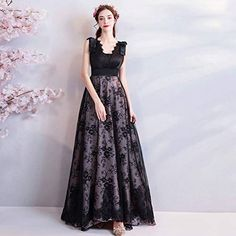Eyelash Lace Stitching V-Neck Tulle Embroidery Delicate Dresses Cheap Prom Dresses Online, Evening Dresses Online, Formal Evening Dresses, Elegant Dresses, A Line Long Dress, A Line Prom Dresses, Maxi Dresses, Party Dresses, Bridesmaid Dresses