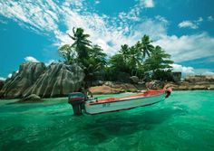 Seychelles-beach on a small island off the east coast of Africa