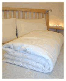 """Holy Lamb Organics Perfect Comfort Wool Comforter - Full/Queen by Holy Lamb Organics. $375.00. Organic cotton fabric cover. Hand made in Washington State. Mashine washable gentle with special instructions. Pure eco wool fill. Ivory Sateen organic cotton cover and a """"Perfect Comfort"""" layer of organic wool batting.Double stitched on edges and hand tied every 8"""" and around perimeter to prevent wool from shifting. We use only cotton thread (no poly blends). Each comforte..."""