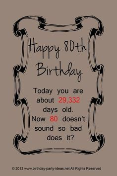 7 Best 80th Birthday Quotes Images