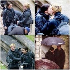 JOSHIFER IN MOCKINGJAY SET. She look like she's kissing him in the second one.