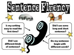 Awesome lessons for sentence fluency.