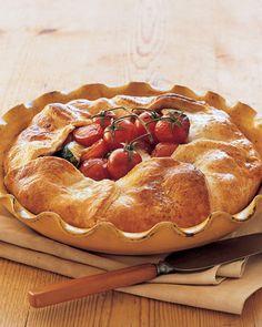 Zucchini pie, Cherry tomatoes and Zucchini