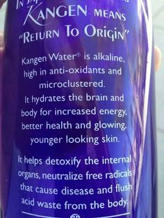 Kangen Water Change your water-Change your life! Kangen Beauty Water - www.healthybydannorris.com, www.kangendemo.com, 407-749-9395, dannorris42@gmail.com