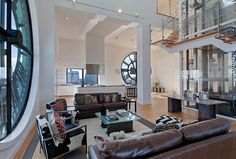 For those obsessed with time, Clock Tower Triplex Penthouse in Brooklyn, NY