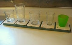 Keep everyone's cups organized on the counter, so you never have to wonder which one is yours! Wahoo!