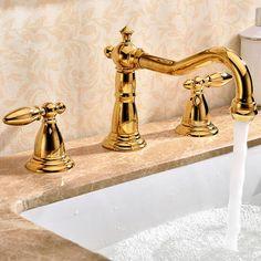 Modern Ti-PVD Gold Bathroom Basin Mixer Tap Deck Mounted for sale online Bathroom Basin Mixer Taps, Basin Taps, Faucet, Golden Life, Deck, Free Shipping, Modern, Ebay, Trendy Tree
