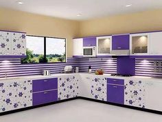Modular Kitchen Furniture for your all kitchen furniture requirements in Guwahati at affordable price. Call Bella Kitchens for latest Products catalogue, Price list / Cost of Furniture Design in Guwahati. Kitchen Room Design, Modern Kitchen Design, Interior Design Kitchen, Kitchen Designs, Kitchen Ideas, Kitchen Trolley Design, Purple Kitchen Cabinets, Kitchen Cabinet Colors, Kitchen Modular