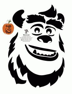 Gremlins pumpkin stencils google search pumpkin carve for Sully pumpkin template