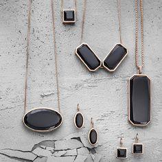 caï jewels | earrings necklace | spring/summer 2014 | onyx metal stones | geometric jewelry | www.cai-jewels.com