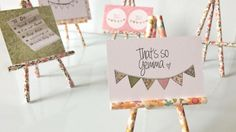 Mini cavaletes de canudos de papel | Faça você mesmo