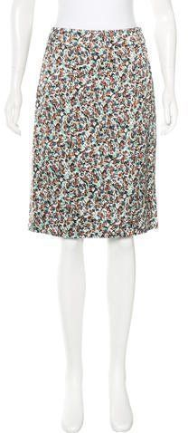 Dries Van Noten Floral Print Knee-Length Skirt