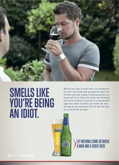 Great ad from Export Dry Lager @Melissa Millerson
