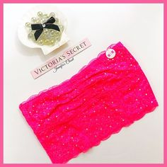 •Victoria's Secret PINK• Rhinestone bandeau V I C T O R I A 'S ✦ S E C R E T  PINK  ❈ Condition: New with tags  ❈ Reasonable Offers Always Welcome!  ❈ Fast shipping Monday⇢Friday  Same/Next day after your purchase  ❈ Questions? Please comment below,  I will be more than happy to assist you ☻  ❈ Bundles are always encouraged to save on shipping!   ❈Thank you for stopping by! Hope to have you as a customer or returning customer   xo ღ Jennifer PINK Victoria's Secret Intimates & Sleepwear…