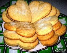 Sour Cream Heart Cookies Recipe # sweets and desserts Easy Cookie Recipes, Sweet Recipes, Baking Recipes, Cake Recipes, Snack Recipes, Ukrainian Recipes, Russian Recipes, Sour Cream Biscuits, Top 5