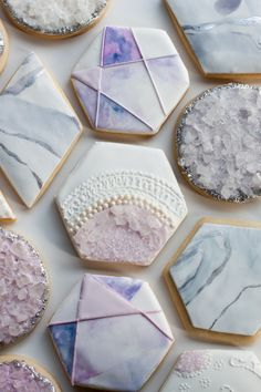 Whipped Bakeshop's custom textured hexagon cookies Inquire today for cookie favors! We ship cookies across the United States Summer Cookies, Fancy Cookies, Cut Out Cookies, Iced Cookies, Cute Cookies, Easter Cookies, Birthday Cookies, No Bake Cookies, Christmas Cookies