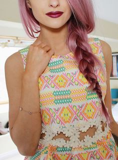 Big Hair Friday - INTHEFROW - purple pink braid